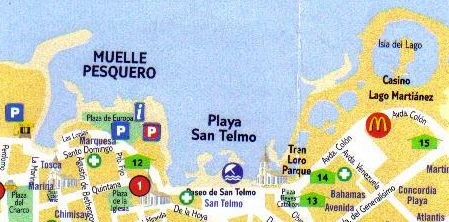 Map San Telmo beach