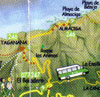 Map Taganana Benijo from San Andres Tenerife