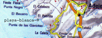 Map Tenerife White beach