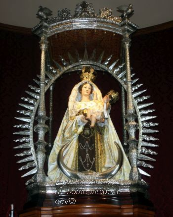 Marian shrine at the Tenerife church Sanctuary of Iglesia de Nuestra Senora del Carmen in Realejos.