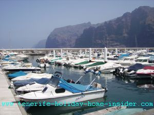 Los Gigantes Marina yacht harbor Tenerife