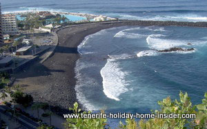Martianez beach front view from Hotel Semiramis Tenerife