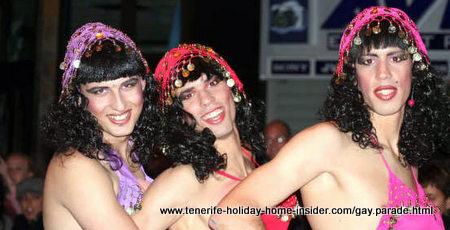 Mascarita Ponte Tacon the carnival gay parade of Puerto de la Cruz