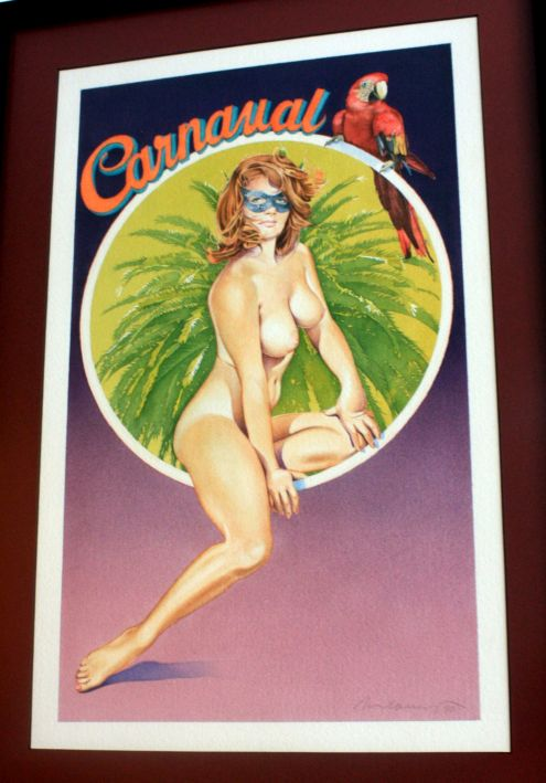 Masked nude advertisement of the 1991 Santa Cruz Carnival.