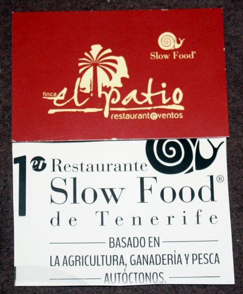 Member of the Organic Slow Food Club certificate