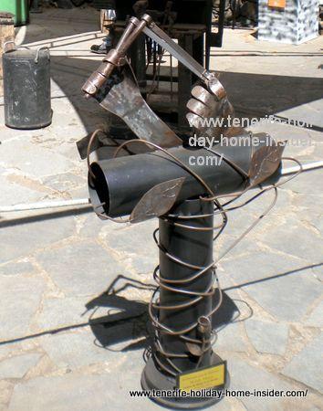 Metal art made of iron