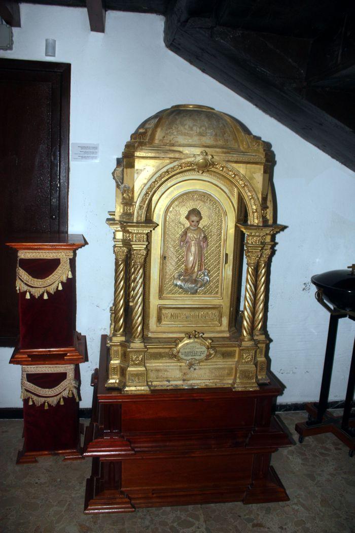 Mini Mausoleum metal craftworks Museum of sacred art in Puerto de la Cruz.