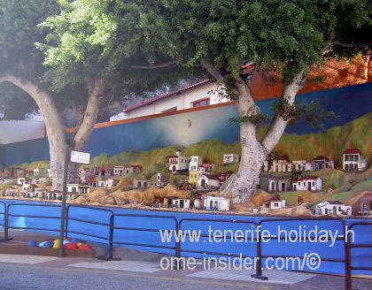 Miniature town Candelaria by the wayside
