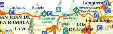 Mirador del Terrero regional map