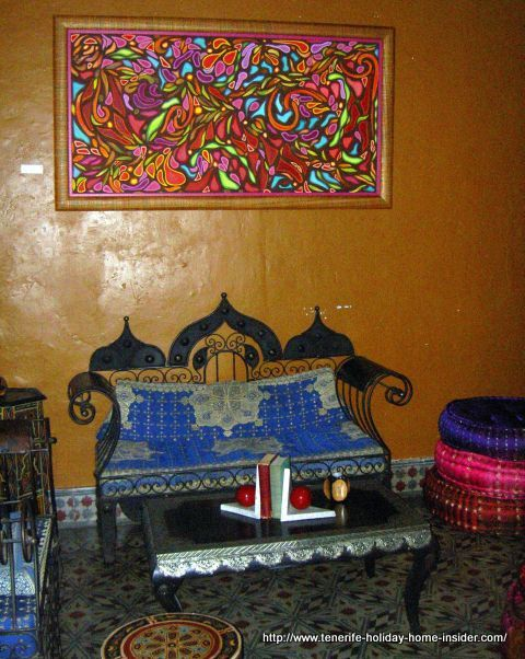 Moroccan flair interior decoration in Tenerife