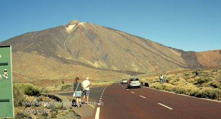 Mountain road Tenerife Cordillera the best of the island