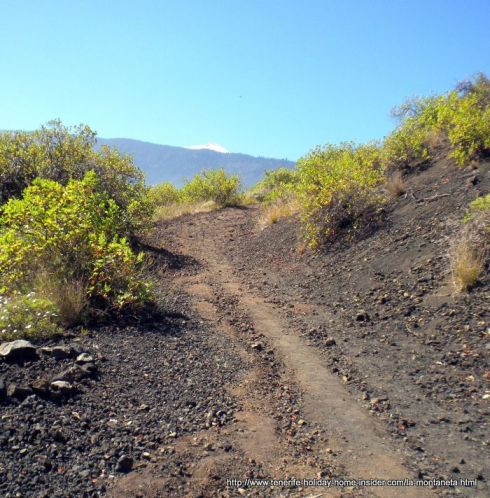 Mountain road rough and volcanic