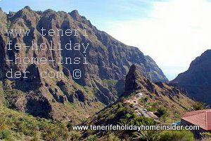 Mountain scenery Masca Teno Mountains cliffs and gorge