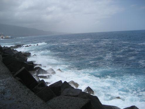 Muelle harbor jetty Puerto de la Cruz Tenerife Spain.