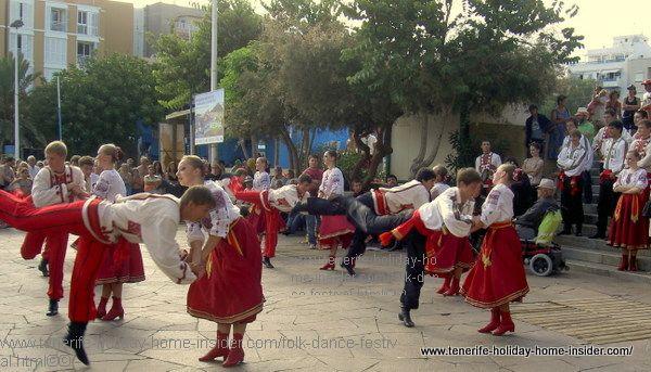 Muestra Folclorica El Medano in town by beaches