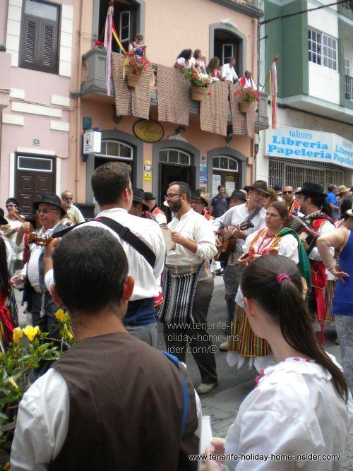 Musicians at harvest Romeria festival Orotava