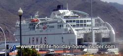 Naviera armas vessel in Santa Cruz Tenerife port