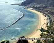Ocean currents  of Tenerife San Andress breakwater bay