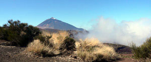 Ocean moisture rising toward Mount Teide