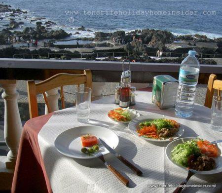 Ocean view restaurant Rocamar of Garachico