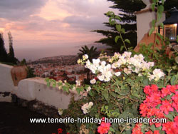 Ocean views off the Montañeta of the monk and its picturesque Tenerife village