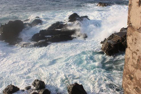 Ocean waves natural wonders of a constant change at Punta Brava Puerto de la Cruz