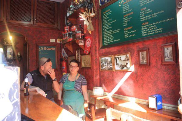 Orotava Cafe El Cuartito the smallest bar a 2013 Tapas Route winner