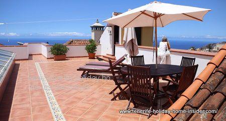Orotava roof veranda Hotel rural Victoria Tenerife