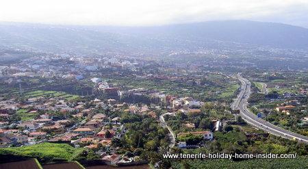 Orotava Valley with Las Cuevas suburb