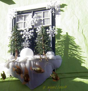 Best outside Christmas decorations of a fish restaurant in Puerto de la Cruz