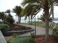Overcast San Eugenio beach by la Arona Tenerife
