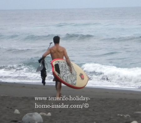 Paddle surf champion of El Socorro beach
