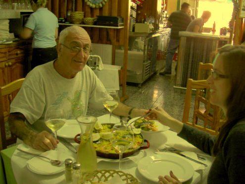 Paella Bar at Caleta de Interian with Miguel from Bilbao.