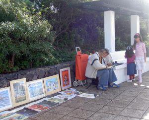 Painter on Playa Jardin Tenerife