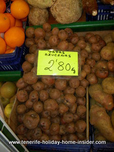 Papas arrugadas wrinkled potatoes of Tenerife Spain