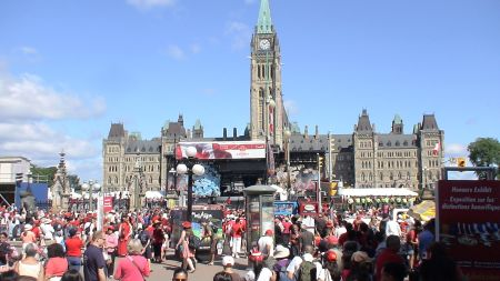 Parliament Hill Canada day Ottawa Ontario