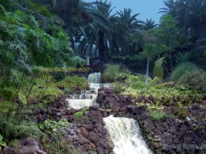 Parque Taoro Park with known walking way back to the hub of Puerto de la Cruz by its waterfalls.