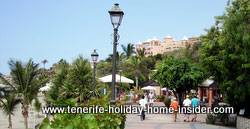 Pedestrian walk way by beach of 9 km Los Christianos to La Caleta