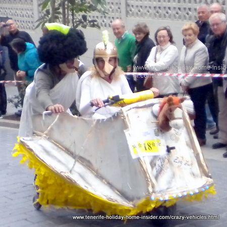Pharahonian chariot for Tenerife carnival