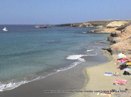 Playa Blanca or Playa Diego Hernandez beach of Tenerife South.