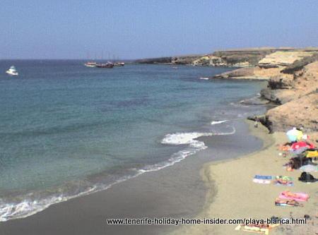 Playa Blanca or Playa Diego Hernandez beach of Tenerife South.