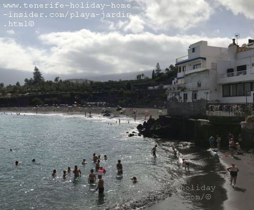 Playa Chica Punta Brava of Playa Jardin Beaches in Puerto de la Cruz Tenerife Spain an extremely safe beach for swimming