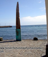 Playa chica with statue at el Medano Tenerife
