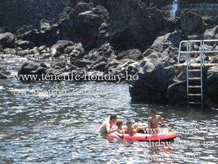 Playa Beach San Telmo of Puerto Cruz Tenerife family fun.