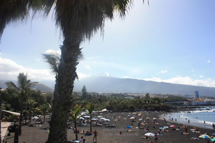 Playa Jardin San Felipe of Tenerife Beaches Puerto de la Cruz.