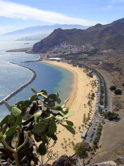 Playa Las Teresitas Tenerife beaches.