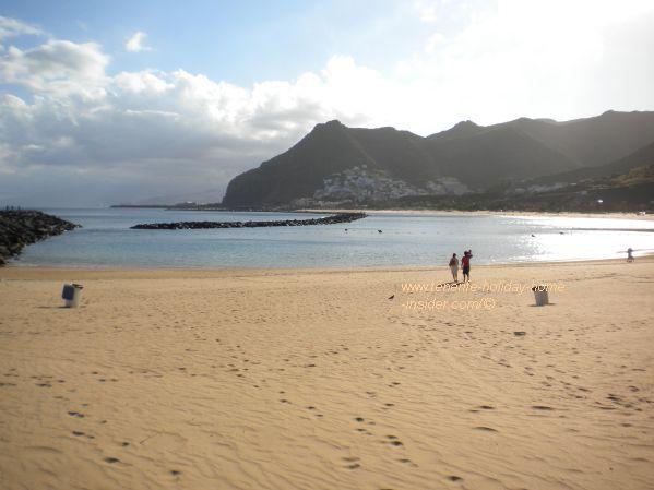 Playa Las Teresitas with breakwater for safe swimming.