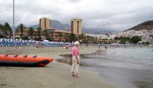 Playa Las Vistas beach Los Christianos Tenerife