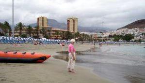 Playa Las Vistas beach Los Christianos Tenerife