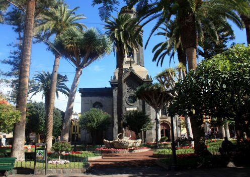 Plaza de La Iglesia de Nuestra Senora de Pena Francia of Puerto de la Cruz in Tenerife.